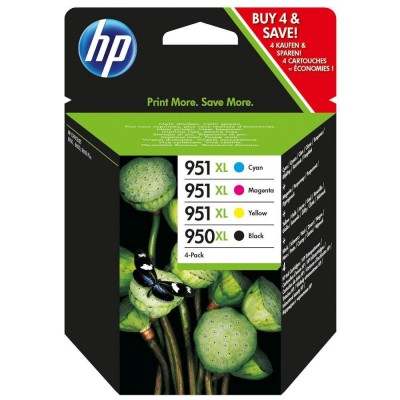 Ink HP No 950XL Black and 951XL Cyan, Magenta, Yellow Crtr Combo Pack